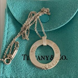 Tiffany &Co authentic 1837 circle necklace